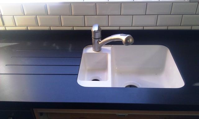 Spoelbak Keuken Zwart : Granietshop voor uw keuken werkblad van Graniet, Composiet en